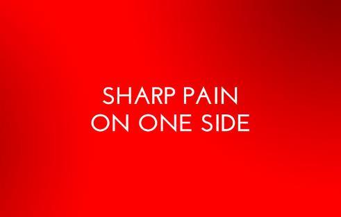 3. در یک طرف شکم احساس درد شدید دارم
