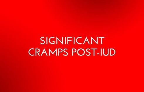 5. درد شکم و گرفتگی قابل توجهی پس از IUD دارم