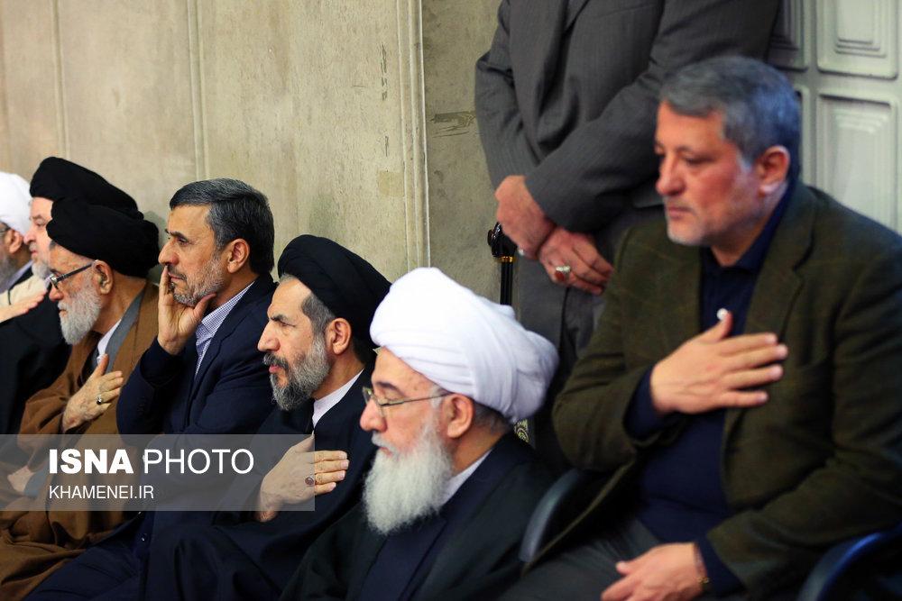 تصاویر بزرگذاشت آیت الله هاشمی رفسنجانی به دعوت رهبر/ همه آمدند از احمدی نژاد تا ...