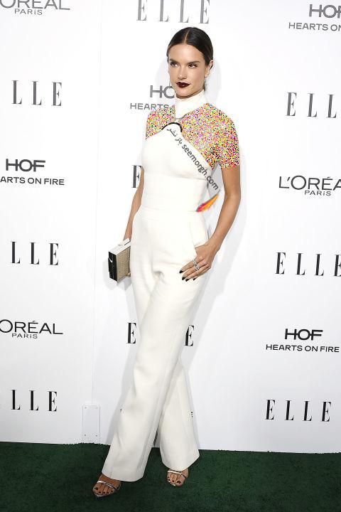 مدل لباس الساندرا آمبرسیو Alessandra Ambrosio در میهمانی مجله ال Elle