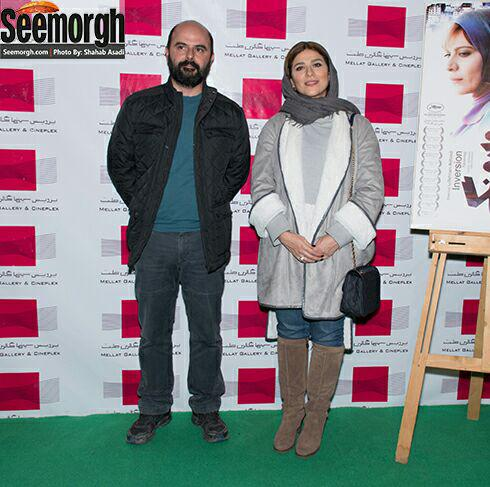 سحر دولتشاهی و علی مصفا در اکران فیلم وارونگی