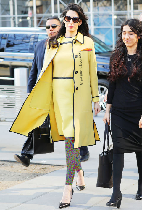 مدل لباس آمل کلونی Amal Clooney در هفته مد نیویورک