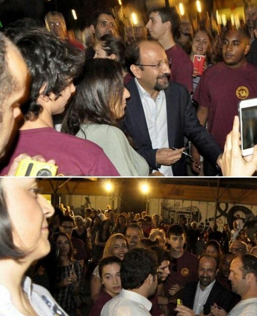 استقبال مردم ایتالیا از اصغر فرهادی