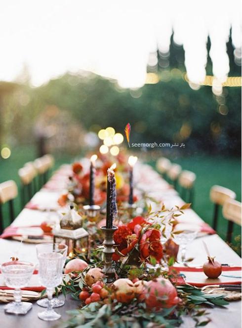 تزیین میز غذاخوری با انار برای شب یلدا - عکس شماره 5