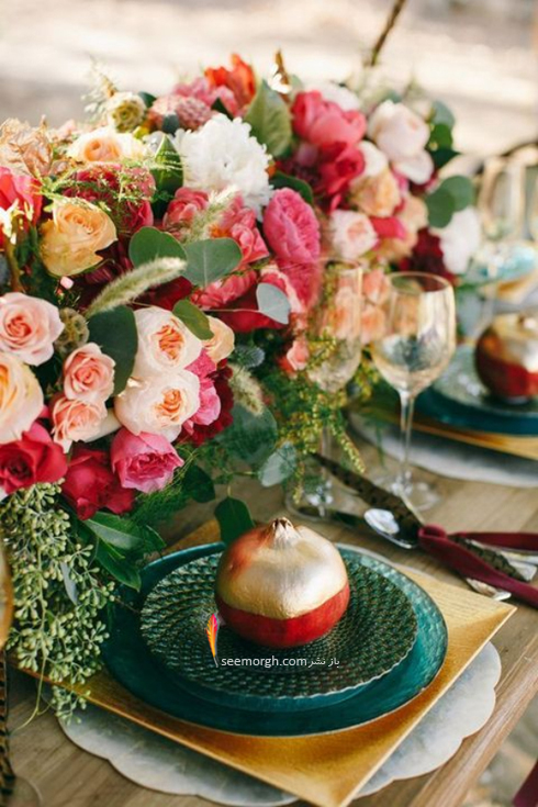 تزیین میز غذاخوری با انار برای شب یلدا - عکس شماره 6