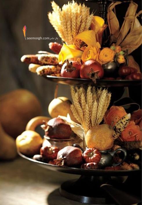 تزیین میز غذاخوری با انار برای شب یلدا - عکس شماره 3