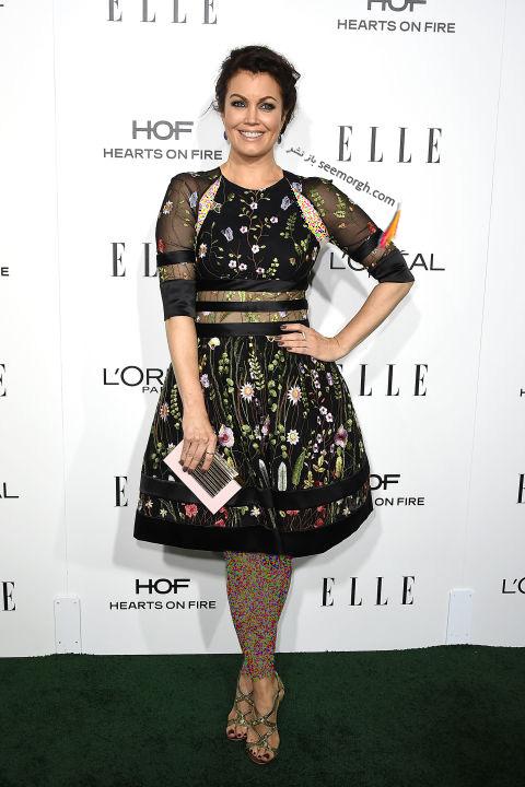 مدل لباس بلامی یانگ Bellamy Young در میهمانی مجله ال Elle