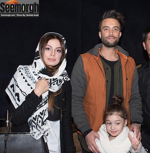 بنیامین بهادری در کنار همسرش شایلی محمودی