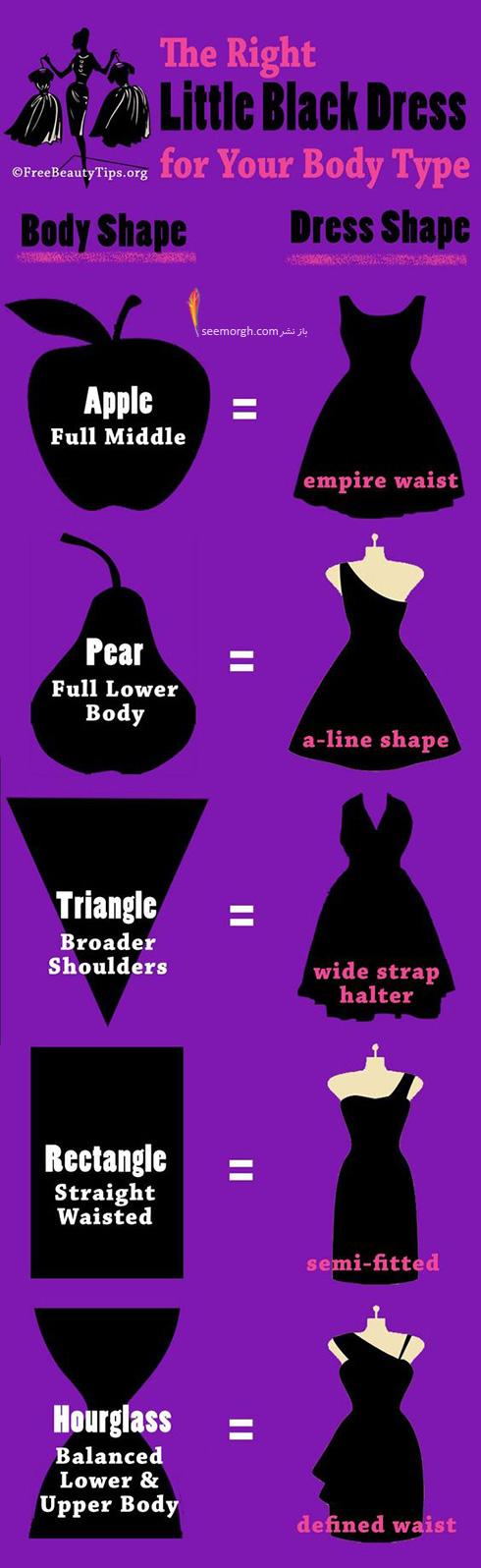 انتخاب لباس شب متناسب با فرم بدن - عکس شماره 3