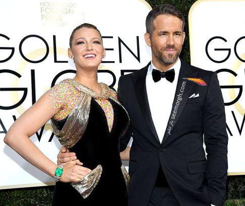 رایان رینولدز و بلیک لیولی در گلدن گلوب 2017