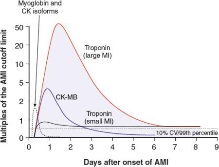 رابطه بین آنزیم های قلبی موجود در خون و حمله قلبی