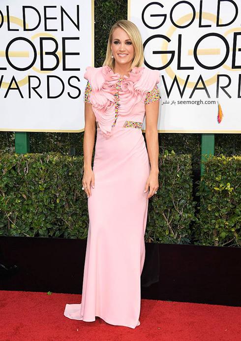 مدل لباس کری آندروود Carrie Underwood در مراسم گلدن گلوب 2017