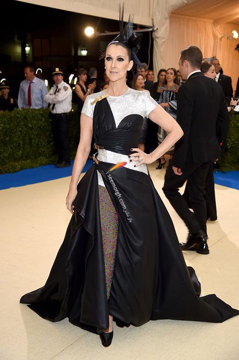 مدل لباس سلن دیون Celine Dion در مراسم مت گالا Met Gala 2017