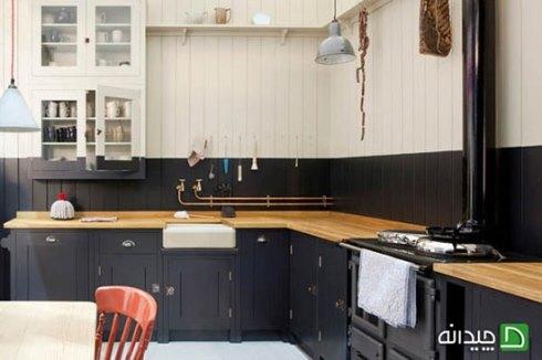حذف کابینت بالایی در دکوراسیون آشپزخانه