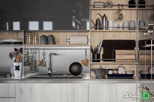 فضای نگهداری دیواری در آشپزخانه