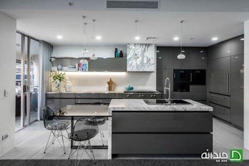 طراحی نورپردازی اصلی آشپزخانه