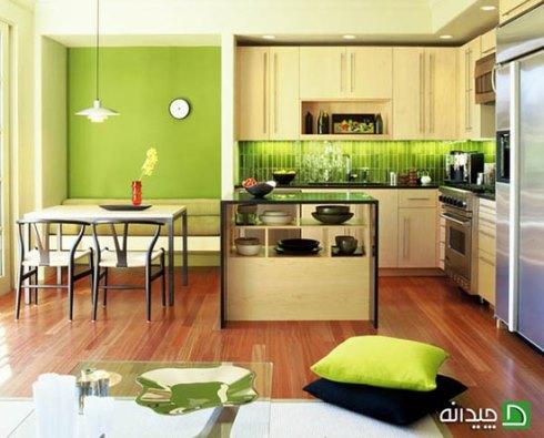 استفاده از رنگ سبز در دکوراسیون آشپزخانه