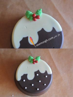 مرحله چهارم درست کردن شیرینی کریسمسی