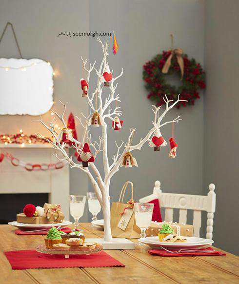 دکوراسیون کریسمس با ترکیب رنگ سفید و قرمز - عکس شماره 1