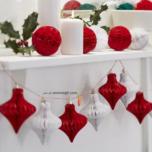 دکوراسیون کریسمس با ترکیب رنگ سفید و قرمز - عکس شماره 2