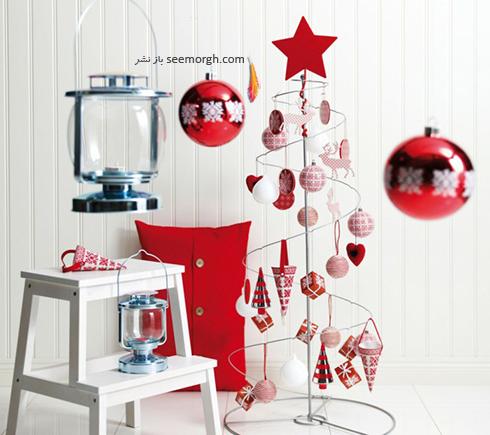 دکوراسیون کریسمس با ترکیب رنگ سفید و قرمز - عکس شماره 3