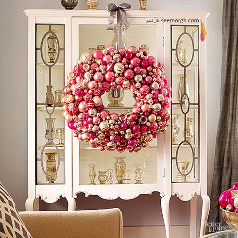 دکوراسیون کریسمس با ترکیب رنگ سفید و قرمز - عکس شماره 5
