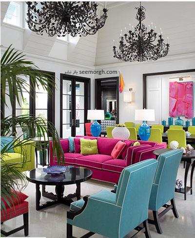 رنگ های گرم و روشن برای دکوراسیون داخلی خانه های مناطق آفتابی مناسب است
