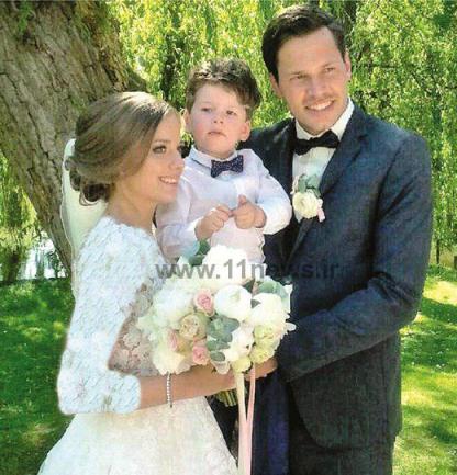 دانيال داوری در کنار همسر و فرزندش