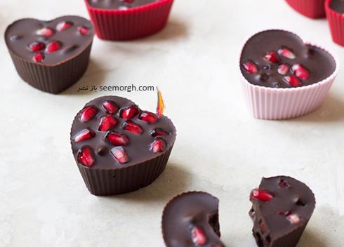 دسر شکلات انار برای شب یلدا - عکس شماره 2