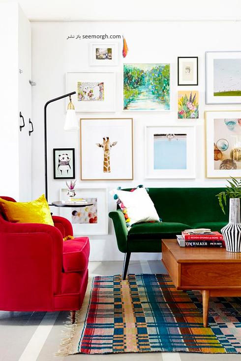 ست کردن مبلمان ال قرمز رنگ در دکوراسیون داخلی - عکس شماره 6