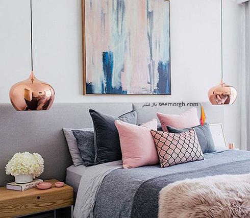 ست کردن رنگ خاکستری و سفید در دکوراسیون داخلی اتاق خواب - عکس شماره 3