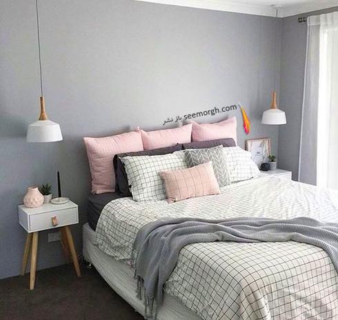ست کردن رنگ خاکستری و سفید در دکوراسیون داخلی اتاق خواب - عکس شماره 2