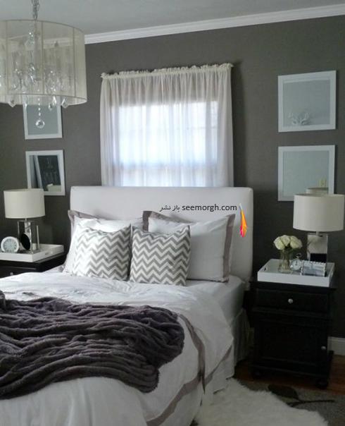 ست کردن رنگ خاکستری و سفید در دکوراسیون داخلی اتاق خواب - عکس شماره 1