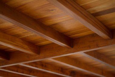 سقف طرح چوب در دکوراسیون داخلی