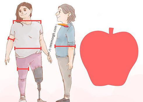 بدن با فرم سیبی شکل
