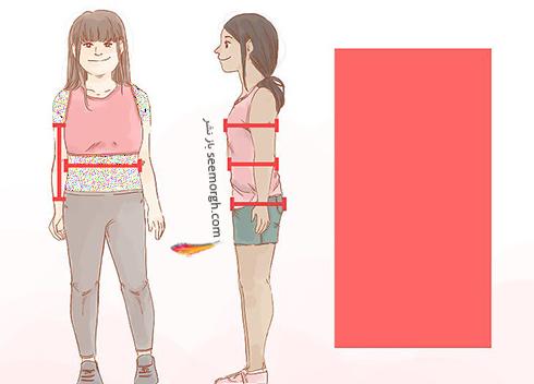 بدن با فرم مستطیلی