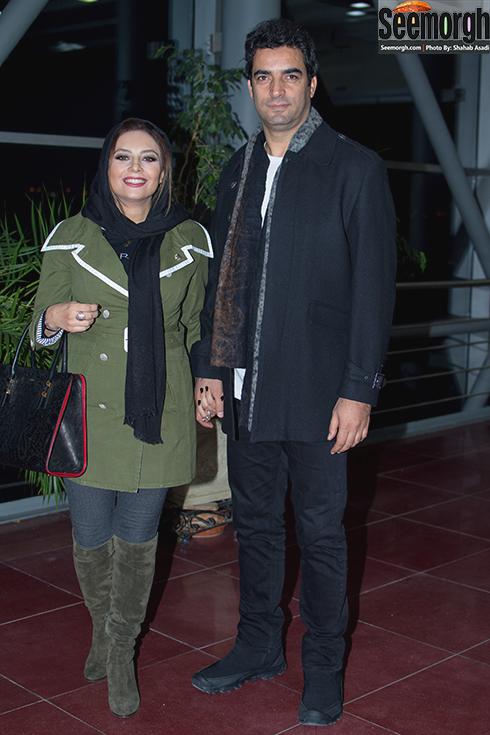 یکتا ناصر و همسرش در پردیس ملت