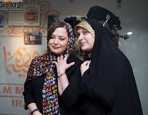 مهراوه شریفی نیا در کنار هوادارانش