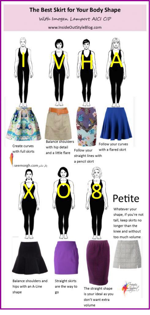 انتخاب دامن متناسب با فرم بدن - عکس شماره 1