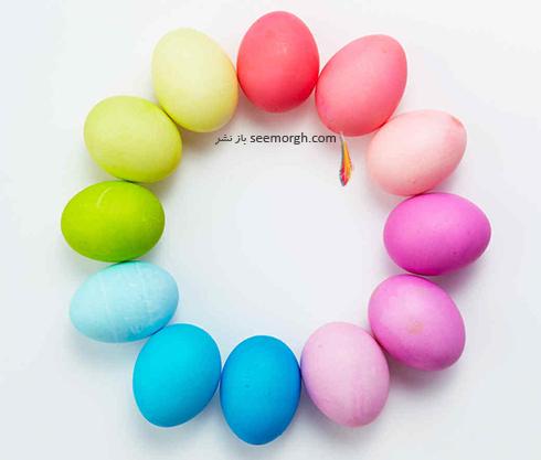 تزیین تخم مرغ با آبرنگ و گواش