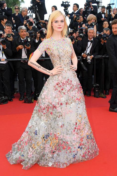 مدل لباس ال فانینگ Elle Faning در هفتمین روز جشنواره کن 2017 Cannes
