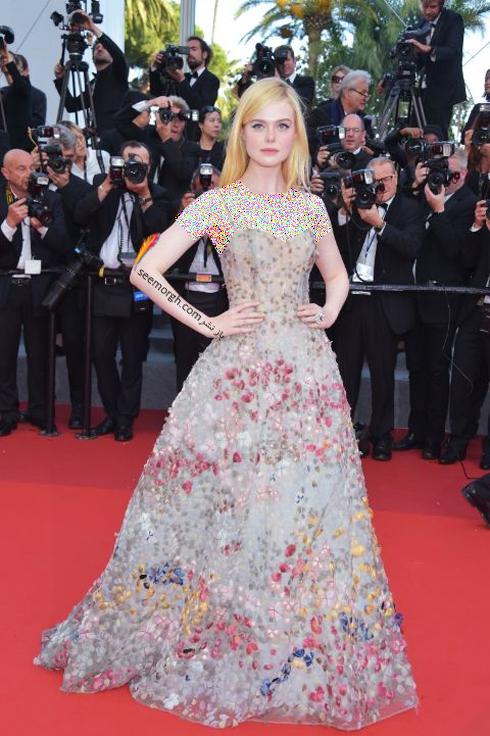 مدل لباس ال فانینگ Elle Fanning در جشنواره کن 2017 Cannes