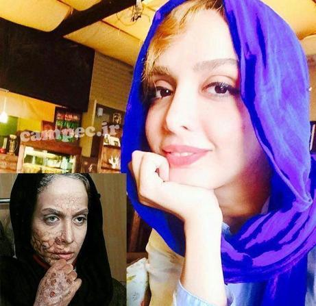 چهره بدون گریم المیرا دهقانی بازیگر نقش مریم در سریال هشت و نیم دقیقه