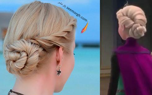 مدل مو دخترانه به سبک السا Elsa در کارتون فروزن Frozen