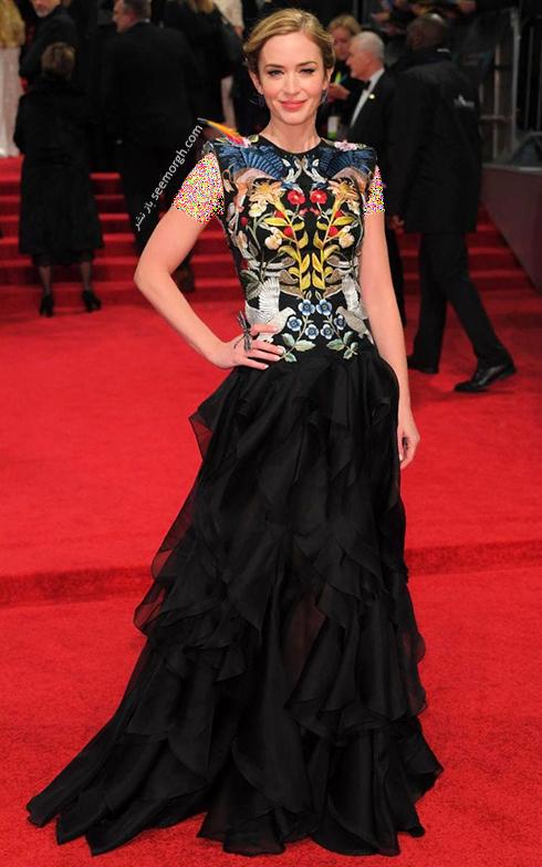مدل لباس امیلی بلانت Emily Blunt در بفتا 2017 Bafta