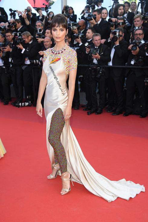مدل لباس امیلی راتاکووسکی Emily Ratajkowski در افتتاحیه جشنواره کن 2017 Cannes