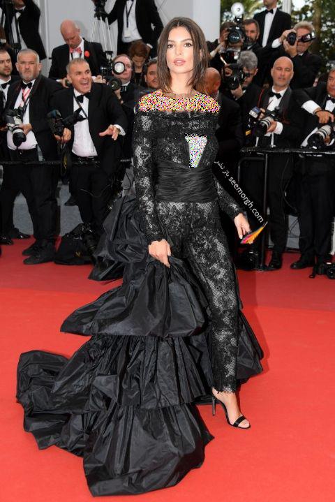 مدل لباس امیلی راتاجوسکی Emily Ratajkowski در جشنواره کن 2017 Cannes
