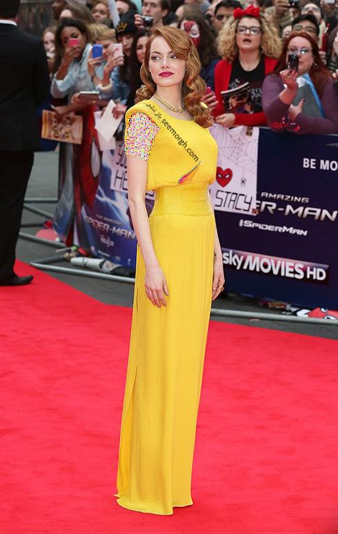 مدل لباس اما استون Emma Stone روی فرش قرمز - عکس شماره 7