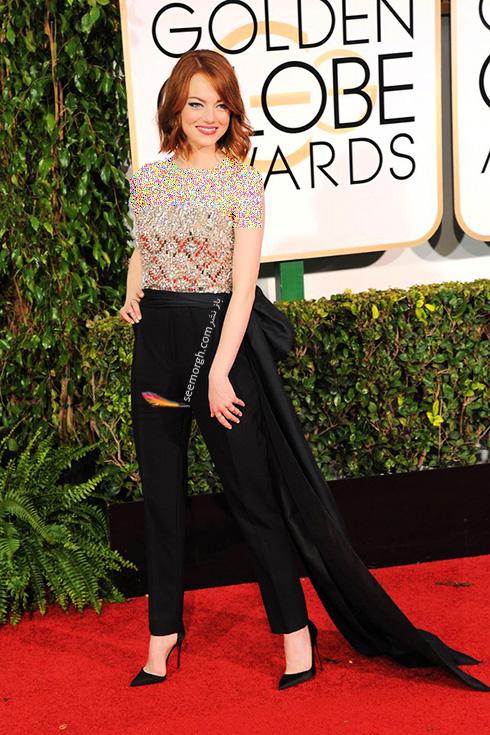 مدل لباس اما استون Emma Stone روی فرش قرمز - عکس شماره 8