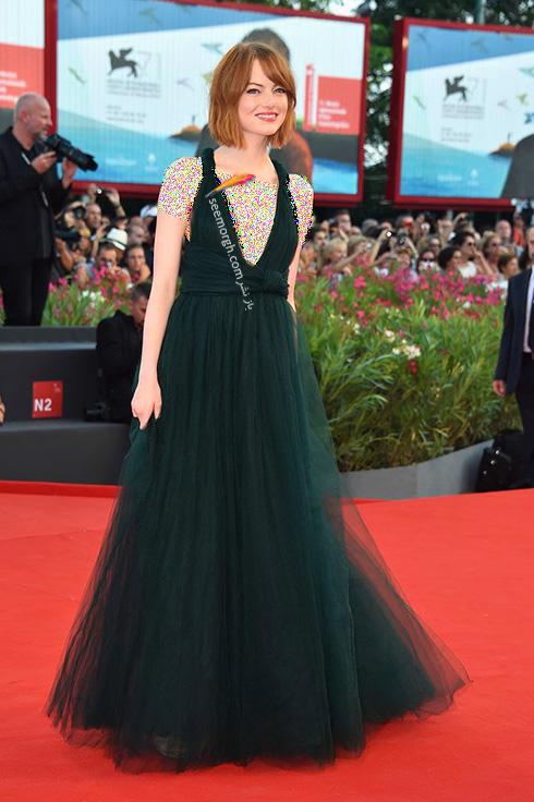 مدل لباس اما استون Emma Stone روی فرش قرمز - عکس شماره 9